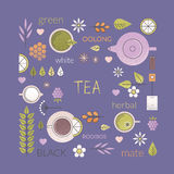 Tea culture background Stock Photography