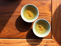 Tea culture. This tea culture places emphasis on the taste and color of the tea as well as on the presentation of the tea set Stock Photos