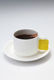 Tea cup. With tea for edge-out Royalty Free Stock Images