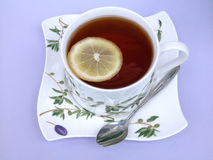 Tea cup. Cup of tea with lemon Stock Images