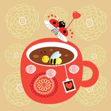 Tea cup royalty free illustration