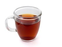 Tea cup. A cup of tea. White background Royalty Free Stock Image