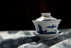 Tea cup. This is a Chinese porcelain tea cups used,This tea cup is made of fired clay, known as porcelain.Desktop wallpaper orchids spread, even more simple royalty free stock photo