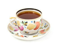 Tea cup. On white background Royalty Free Stock Photo