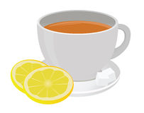 Tea cup. And lemon. For you design Royalty Free Stock Image