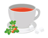 Tea cup. And berry. For you design Stock Image