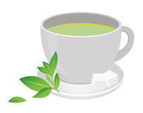 Tea cup. Green tea cup. For you design Stock Photography