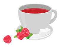 Tea cup. And raspberry. For you design Royalty Free Stock Photo