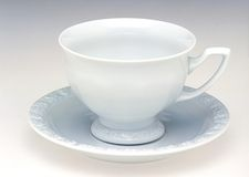 Tea cup. White empty tea cup close-up Stock Photography