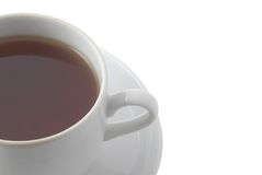 Tea cup. Isolated over white Stock Images