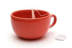 Tea cup. Tea cup isolated on white Stock Photos