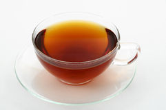 Tea cup. Simple transparent tea cup on white background Stock Photo