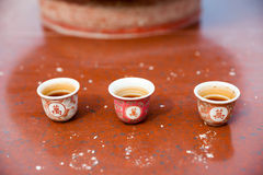 Tea cup on the altar. George Town, Penang, Malaysia Royalty Free Stock Photography