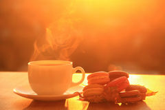 Tea Cup And Macaroons Royalty Free Stock Photography