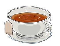Tea cup  art painting illustation Royalty Free Stock Image
