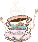 Tea Cup Background Royalty Free Stock Photos