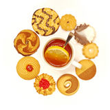 Tea cup with biscuits Stock Image
