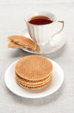 Tea cup with biscuits Royalty Free Stock Photography
