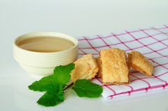Tea cup with biscuits Stock Photo