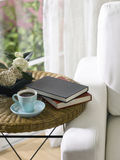 Tea cup and books Stock Image