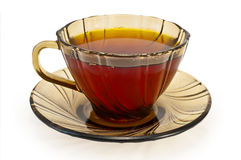 Tea in a cup of brown Stock Photo
