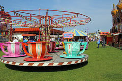 Tea cup carousel fairground Royalty Free Stock Photos