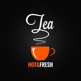 Tea cup flavor design background Royalty Free Stock Image
