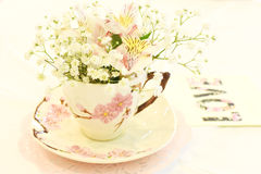 Tea Cup with Flowers Royalty Free Stock Photo