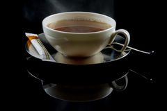 Tea Cup. Tea freshly brewed with sugar Royalty Free Stock Images