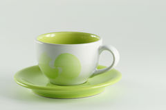 Tea cup with handle. Royalty Free Stock Photos