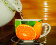 Tea cup, hot, green, white, teapot, water, liquid,. Tea cup, hot, green, white teapot water background liquid royalty free stock image