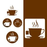Tea Cup Icon in Flat style. Tea Cup Icon collection in Flat style stock illustration