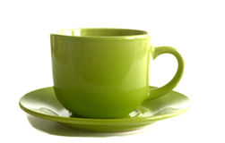 Tea cup isolated on white background royalty free stock photography