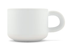 Tea cup isolated on white front view Stock Image