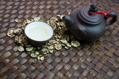 Tea cup jar jug Chinese pottery drink concept Stock Photos