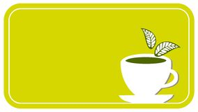 Tea cup label Stock Images