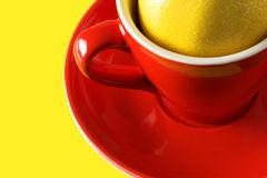 Tea cup with lemon Stock Image