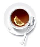 Tea cup with lemon Stock Photos
