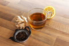 Tea cup lemon and ginger Royalty Free Stock Images