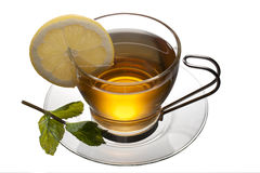 Tea cup with lemon Royalty Free Stock Photo