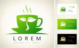 Tea cup logo Royalty Free Stock Photo
