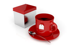 Tea cup and metal box Stock Image