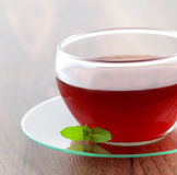 Tea cup with mint Stock Photography