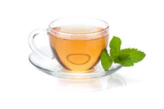 Tea cup with mint Royalty Free Stock Images
