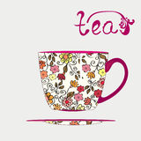 Tea cup with pattern Stock Images