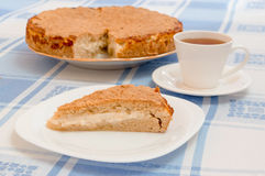 Tea cup and pie Royalty Free Stock Image