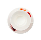 Tea cup and plate Royalty Free Stock Photos