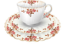 Tea cup with roses Stock Photography