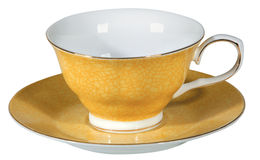 Tea cup and saucer. On white background Stock Photography