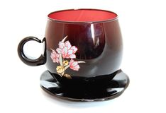 Tea cup and saucer Royalty Free Stock Image